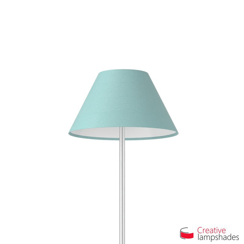 Chinese lampshade with Heavenly Blue Cinette covering