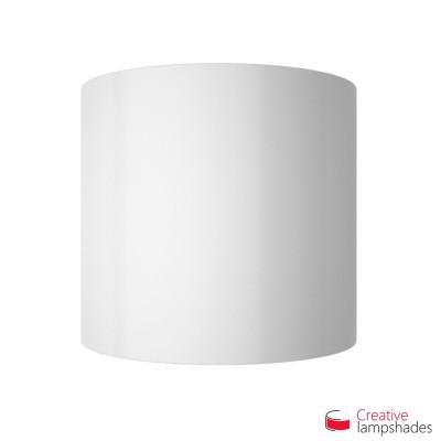 Pantalla con aplique de pared cilíndrica con caja eléctrica recubrimiento Lumiere Blanco