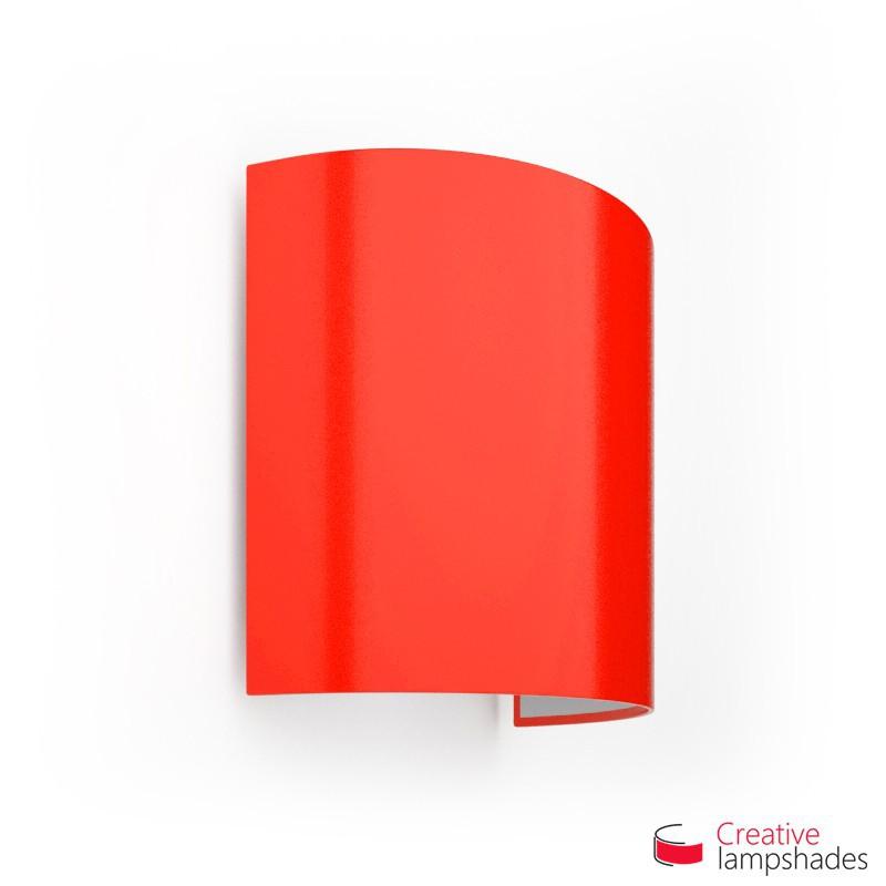 Paralume Ventola Cilindrica a parete con Scatolina Lumiere Rosso