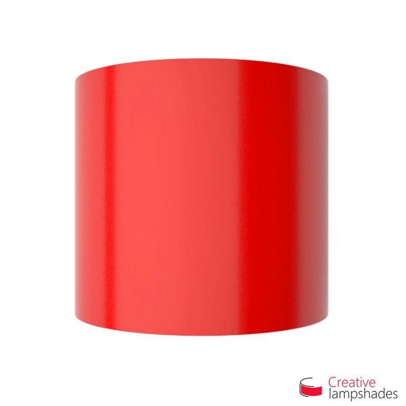 Demi Abat-jour Cylindrique à paroi avec Boîtier, Lumière Rouge