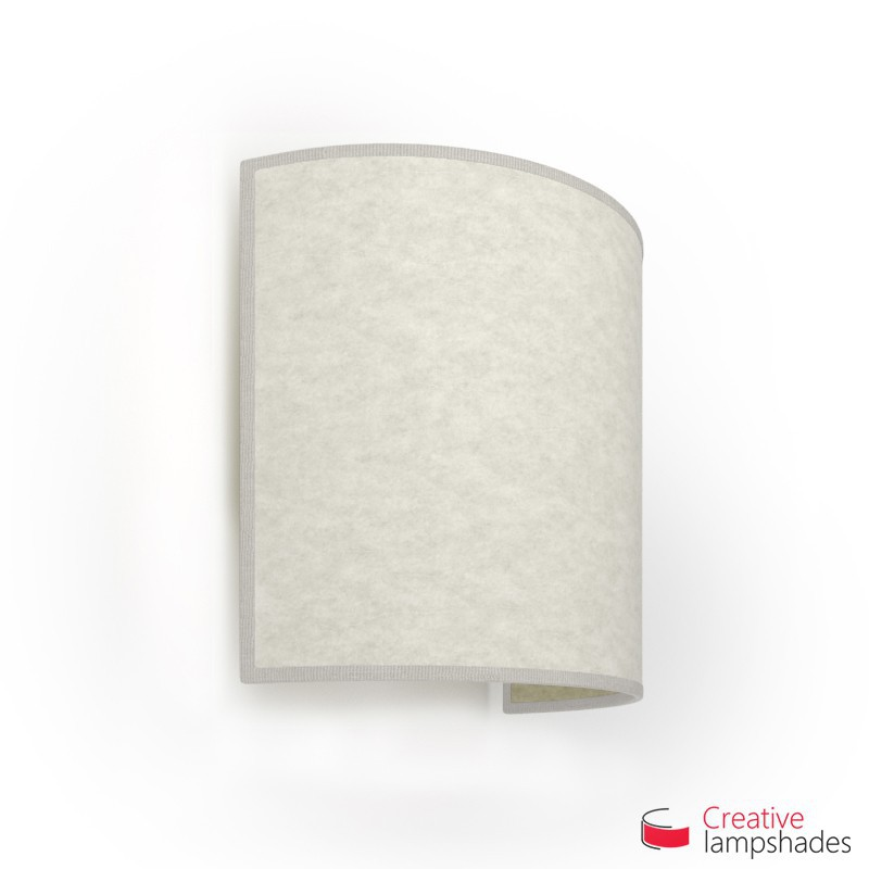Half Cylinder Wall Lampshade White Parchment with  box
