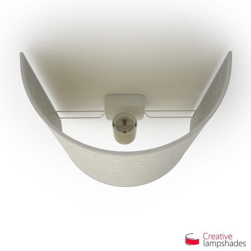 Paralume Ventola Cilindrica a parete con Scatolina Pergamena Bianco