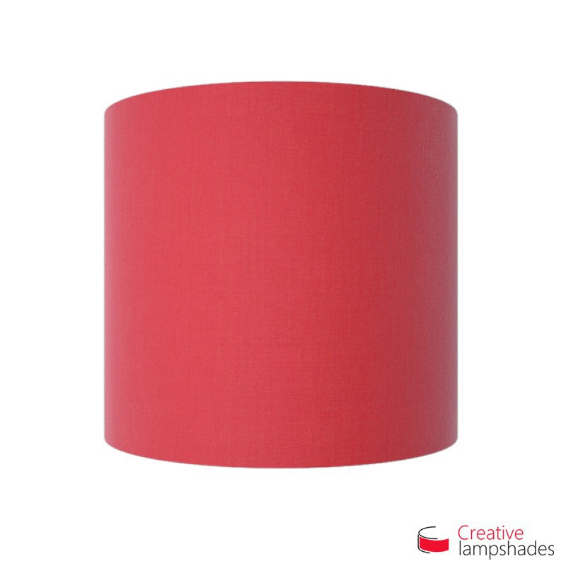 Half Cylinder Wall Lampshade Fuchsia Pink Canvas covering with  box