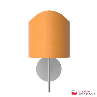 Scallop half cylinder lampshade for wall lamp Mandarine Orange Canvas cover