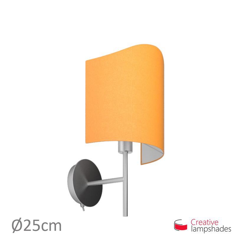 Abat-jour Applique Modelée pour lampe murale Revêtement Toile Mandarine