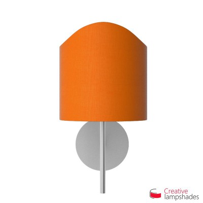 Scallop half cylinder lampshade for wall lamp Orange Canvas cover