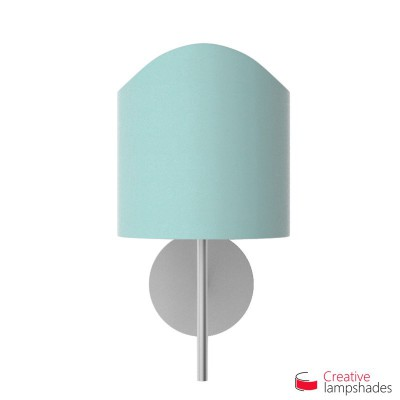 Scallop half cylinder lampshade for wall lamp Heavenly Blue Cinette covering