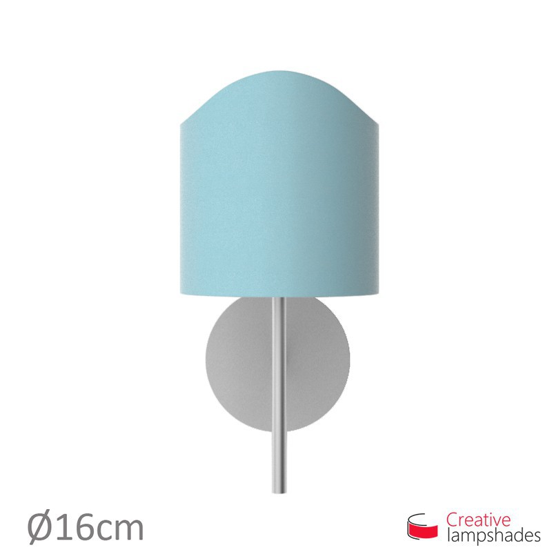 Paralume ventola sagomata per applique a muro rivestimento Cinette Celeste