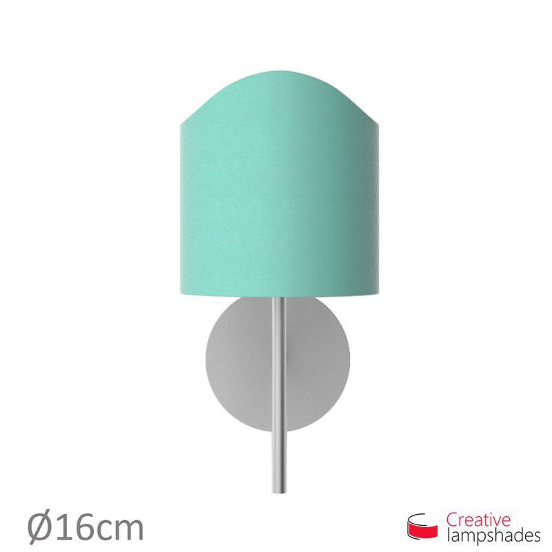 Paralume ventola sagomata per applique a muro rivestimento Cinette Turchese