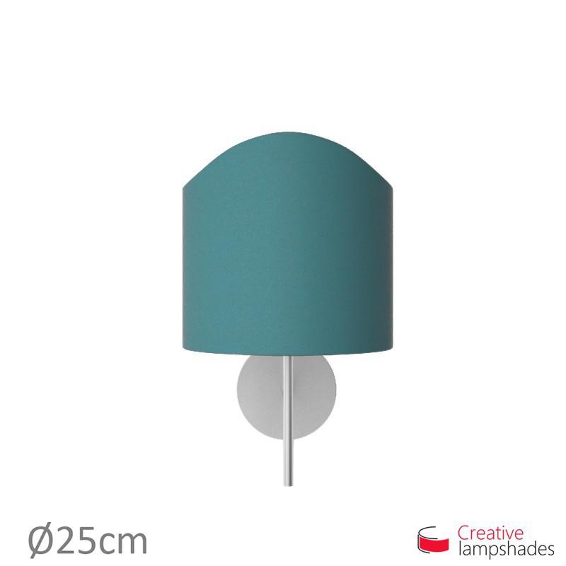 Paralume ventola sagomata per applique a muro rivestimento Cinette Blu