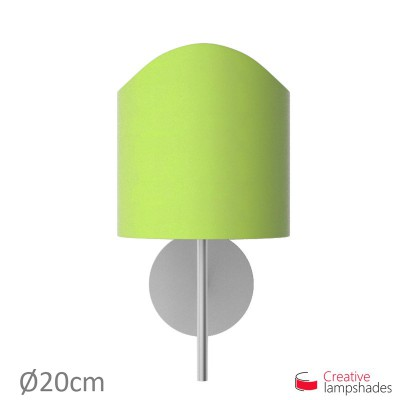 Scallop half cylinder lampshade for wall lamp Pistachio Green Cinette covering