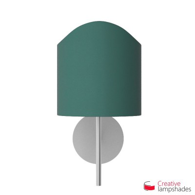 Scallop half cylinder lampshade for wall lamp Petrol Blue Cinette covering