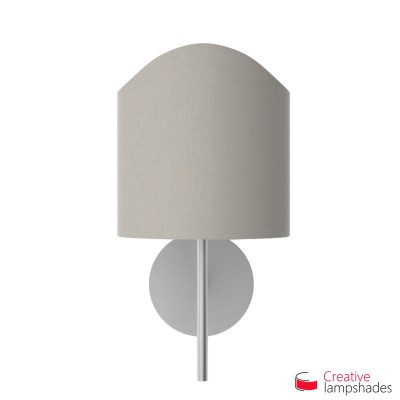 Scallop half cylinder lampshade for wall lamp Grey Camelot covering