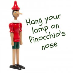 Pinocchio: wall mount any lamp!
